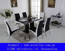 Glass 7 Pieces Dining Furniture Sets
