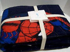Pottery Barn Kids Marvel Multi Colors Spider Man Web Cotton Twin Quilt New