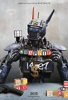 Chappie Double Sided ORIGINAL MOVIE Film POSTER Neill Blomkamp cool US One Sheet