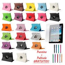 Custodia Per Apple iPad 2 3 4 GEN 360° + Pennino + Pellicola + Cover Case Pelle