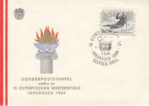 Olympische Spiele Innsbruck 1964 - Sonderpoststempel, 1.2.1964