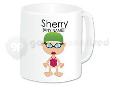 Personalised Girls Swimming Gifts Swimming Mug Cup Teacher Swimmer Present #2