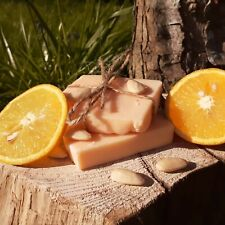 orange and almond oil natural handmade soap