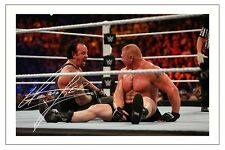 THE UNDERTAKER WWE WRESTLING SIGNED PHOTO PRINT AUTOGRAPH