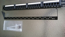ValueLine Cat5e 24 Port Ethernet Patch Panel w/Wire management Bar RJ45 an RJ11