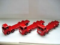 Joblot 3 Atlas Dinky Supertoys Leyland Octopus Red Chassis - Mint condition 1/43