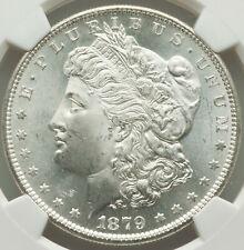 1879-S Rev of 1879 $1 Morgan Silver Dollar NGC WARM MARBLESQUE NEAR GEM MS64