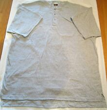 Fruit of The Loom Loungewear 3 Button T-Shirt 2XL Gray 90 % Cotton USA