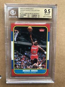 2009-10 Upper Deck Michael Jordan Legacy Collection Gold BGS 9.5!! 1986-87 RC