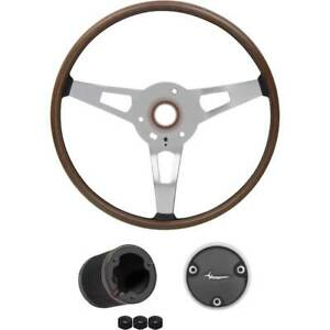 1970 Plymouth Barracuda, Cuda Wood Grain Rim Blow Steering Wheel Kit