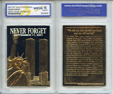 World Trade Center 9/11 23K Gold Card *Original Black Gold* - GRADED GEM-MINT 10