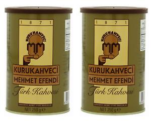 Turkish Coffee Ground Roasted Best Quality Kurukahveci Mehmet Efendi 250g-2 PACK