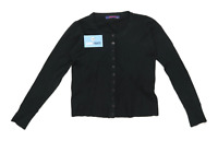 Rossamiss Womens Size S-M Wool Blend Black Lightweight Cardigan (Regular)
