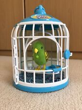 Little Live Pets - Green & Yellow Budgie With Cage Electronic Interactive Age 5+