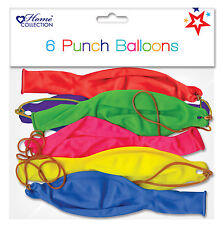 Pack Of 6 Multicoloured Air Fill Latex Party Punch Balloons - Any Occasion