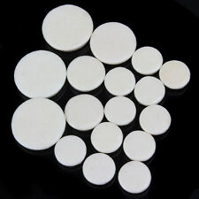 17PCS 17.3 15.1 12 10mm White Clarinet Leather Pads Wood Wind Music Instrument