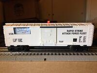 """Lionel 6-1176B/ MTW USN Operating Volt Meter Box Car """"O"""" Gauge, Rev 2.0 NICE!!"""
