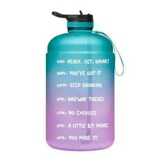 1 Gallon 128oz Motivational Sport Water Bottle with Time Marker