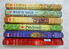 Hem Copal, White Sage, Clove, Patchouli, Frankincense, Myrrh Incense Sticks Lot