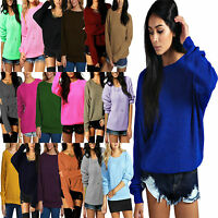 Ladies Women Oversized Thick Chunky Knitted Sweater Long Sleeve Baggy Jumper Top