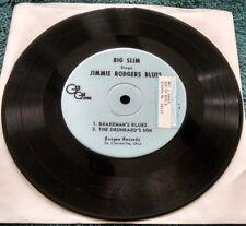 Big Slim Sings Jimmie Rodgers Blues 45 EP (Essgee) private press (Ohio) VG+