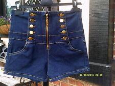 High Waist Jeans Shorts,...Size 10-12