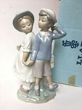 "Lladro ""Puppy Love"" #1127 Porcelain Figurine Mint Condition with Original Box"