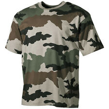 Military Camo T-Shirt Army Combat Mens Top 100% Cotton Tee French Cce Camouflage