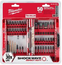 MILWAUKEE Drill Driver Bit Set Shockwave Impact Duty Custom Alloy Steel 50-Piece