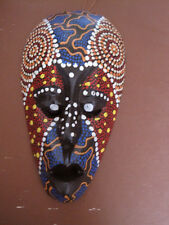 Handcrafted Colorful Bali Tribal  Wooden Warriort Mask 8  inches with hanger