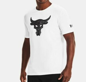 Under Armour Project Rock Brahma Bull Graphic Mens Short Sleeve T-Shirt Size L