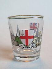 Licor Vaso de Chupito~Londres Souvenir~Escudo , Big Ben, el Tour Of London <>