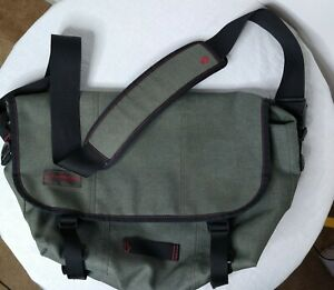 "Timbuk2 Commute Messenger Laptop Bag Gray Waterproof Shoulder 18"" Carry Case"