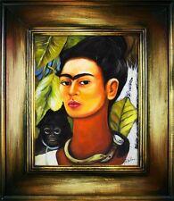 Frida Kahlo - Autoportret -76x66 Ölgemälde Handgemalt Leinwand Rahmen Sig.G16481