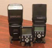 Two Yongnuo YN560 IV flash heads with YN560-TX Flash controller.