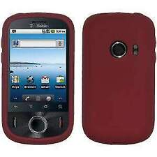 AMZER Silicone Soft Skin Jelly Case Cover For Huawei Comet U8150 - Maroon Red