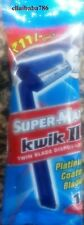 10X Supermax Kwil - II Disposable Razors Twin Platinum Coated Blades Razor