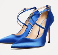 Zara Womens Royal Blue High Heel Shoes Size 7