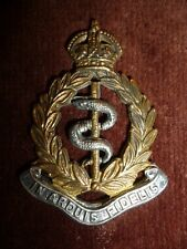 Royal Army Medical Corps KC Officer's Silver & Muted Gilt Cap Badge, KK 2122