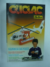 HELLER CLICLAC HELICOPTER DAUPHIN SA 365 POLICE N2030  MIB, VERY NICE
