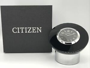 Citizen Decorative Desk Clock Round / Weighted W/Box Free Shipping!