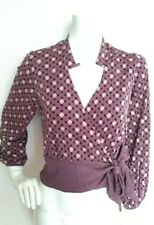 TEMPERLEY London silk jersey wrap top size 8 --VGC-- Exclusive Temperley prints