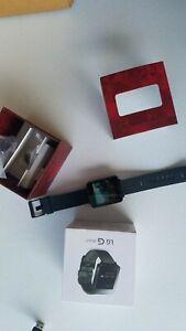 LG G Watch 38mm Stainless Steel Case Titan Black Classic Buckle -(W100)Open box