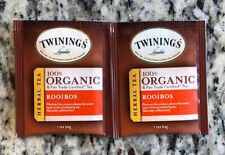 Twining's Organic Tea - Rooibos - 18 Individual Sealed Tea Bags!