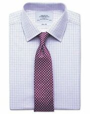 "CHARLES TYRWHITT Slim Fit Pink & Blue Two Colour Check Shirt 16.5""/36"" RRP £60"