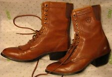 Ariat Women Light Brown Full Grain Leather Boots Size U.S. 6B Style 15880