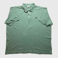 Mens Lacoste Polo Shirt XXL/7 Pale Green Short Sleeve Cotton