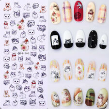 Nail Art Water Transfer Decal Manicure Sticker Lovely Cat Pattern DIY