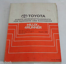 Workshop Manual Toyota Hilux/4 Runner Chassis Body Transmission, 08/1991