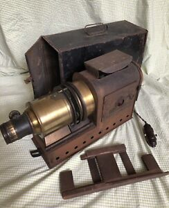 Vintage Antique Early Century Magic lantern projector Light Show Brass & Metal🌈